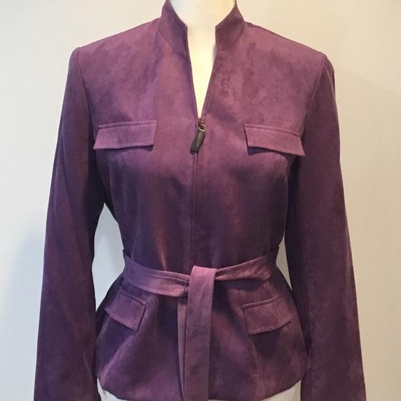 Studio I Jackets & Blazers - Studio 1 Purple Belted Zipper Jacket Size 8